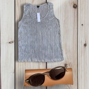 Ann Taylor Shimmer Pleated Shell Top